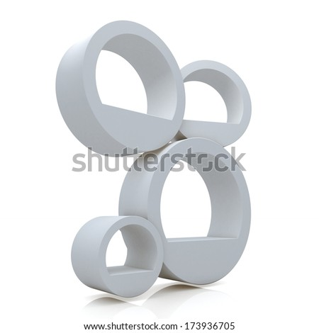 3d matted clean white abstract shelves for decorate in isolated background with work paths, clipping paths included - stock photo