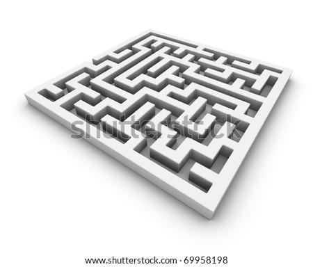 3d maze - stock photo