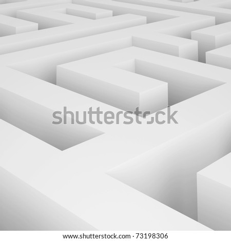 3d Maze - stock photo