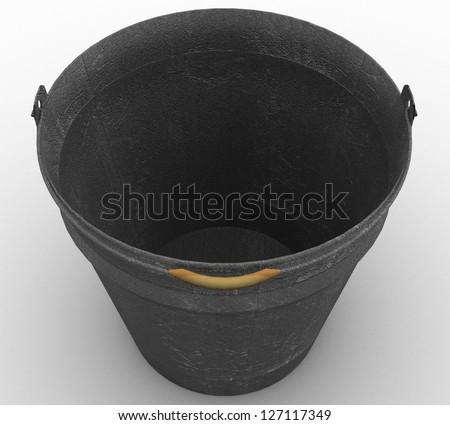 3d Metal bucket - stock photo