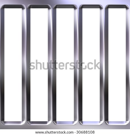 3d metal cage - stock photo