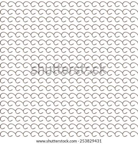 3D metal chain mail repeating isolated background - stock photo