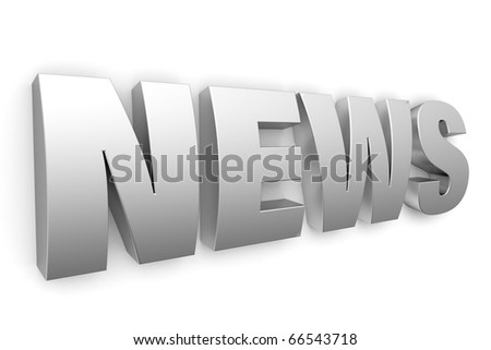 3d metal logo news - stock photo