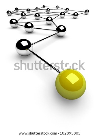 3d metaphor of communication - stock photo