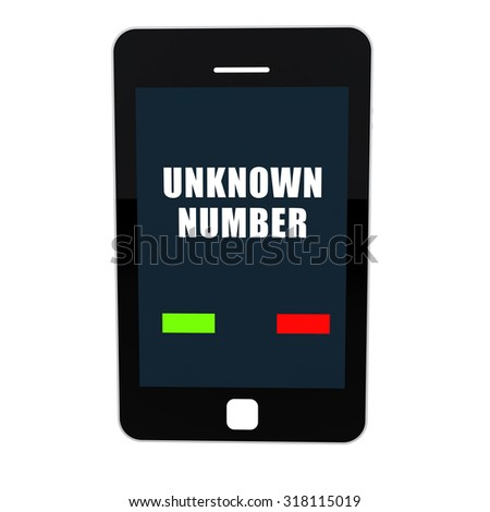 3d mobile phone with unknown number calling