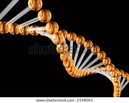 3d model of a genetic code incorporated by the nature