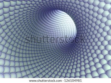 3D model of the nanotube - stock photo