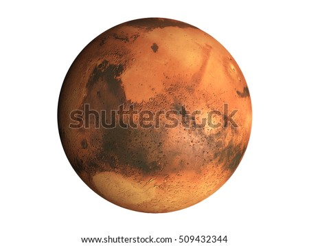 3 d model planet mars isolated on stock illustration 509432344
