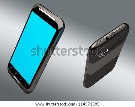 3D model of the smartphone - stock photo
