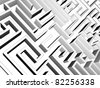 3D-modeled labyrinth, representing concepts such as difficulty, confusion, challenge, complexity, game, as well as problem solving - stock photo