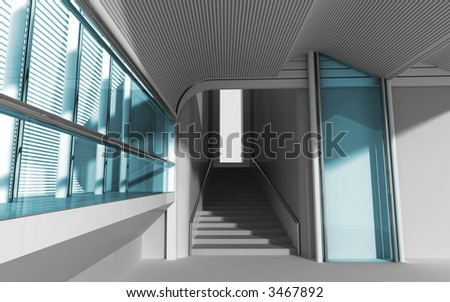 3d modern architecture - stock photo
