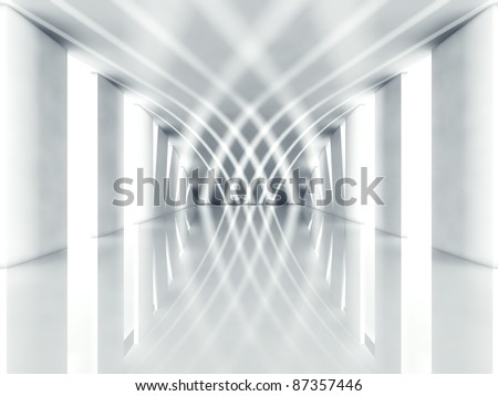 3d modern architecture interior - stock photo
