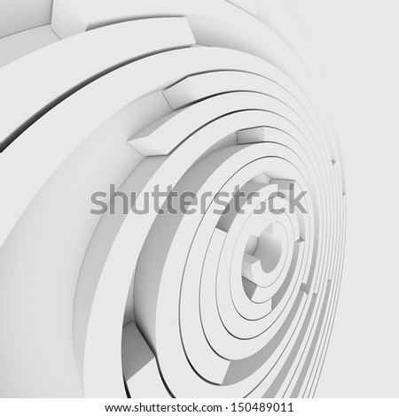 3d Modern Building Concept - stock photo