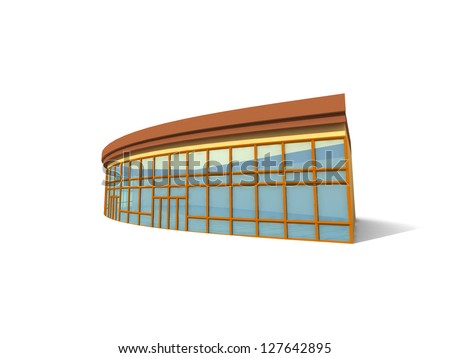 3D Modern building. Concept - modern architecture. - stock photo