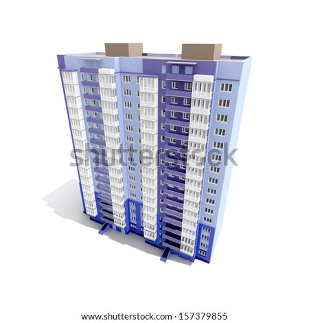 3D Modern building. Concept - modern architecture.