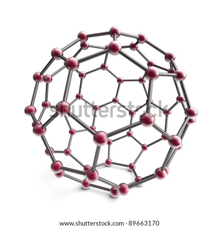 3d molecule sphere on the white background