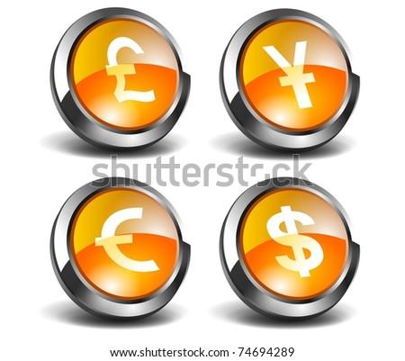 3D Money Icons - stock photo