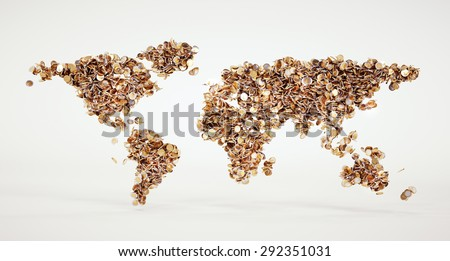 3d money world sign with included clipping path - stock photo