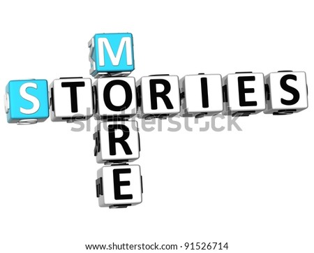 3D More Stories Crossword on white background