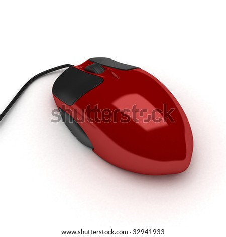 3D mouse isolated on white.