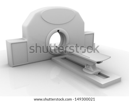 3d MRI Scanner - stock photo