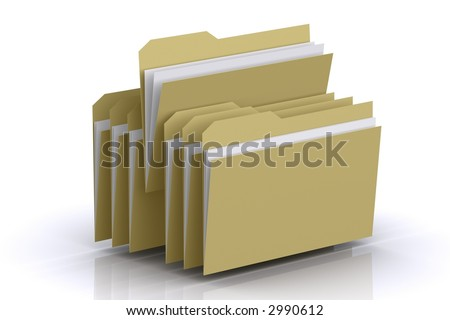 3d Multiple Folders - stock photo