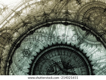 3D music visualization, - stock photo