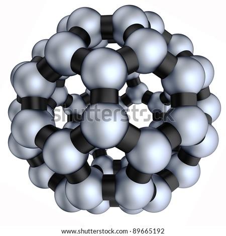3d nano sphere on the white background - stock photo
