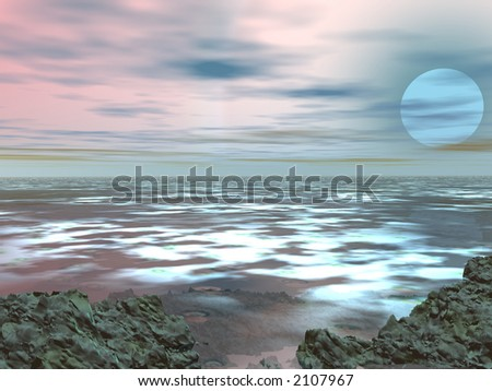 3d nature (see more in my portfolio) - stock photo