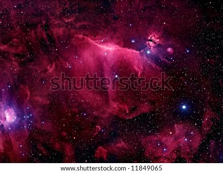 3D Nebula - stock photo