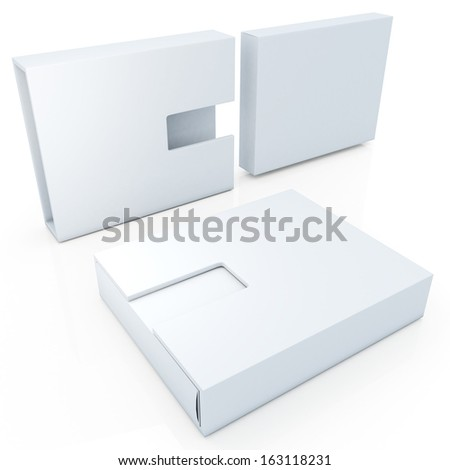 3d new modern design clean white products container blank template and cut off design option for useful core slide in isolated background with work paths, clipping paths included  - stock photo