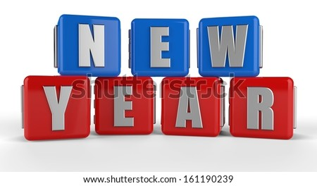 3d new year - stock photo