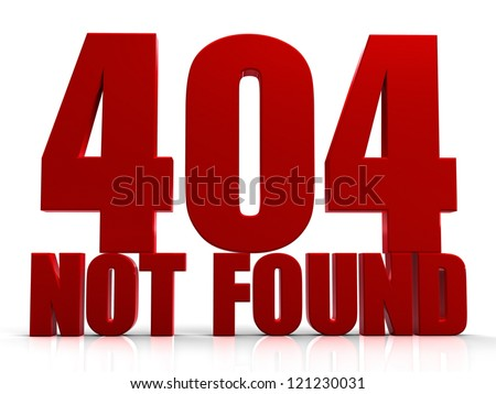 3D 404 Not Found - stock photo