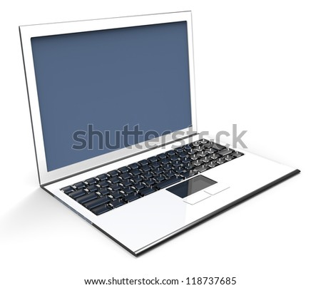 3D - NotePC - stock photo