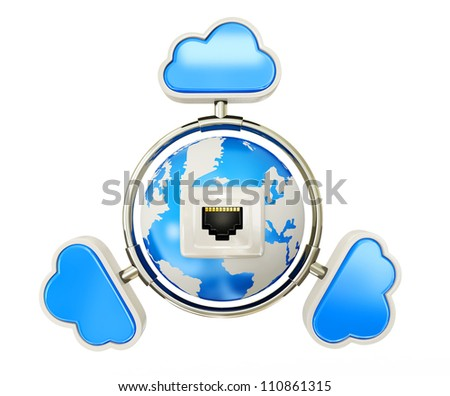3d objects isolated on a white background - stock photo