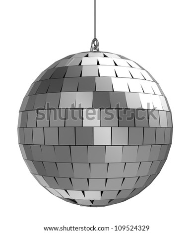 3d of mirrorball   isolated on a white background - stock photo