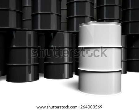 3D. Oil Drum, Barrel, Drum.