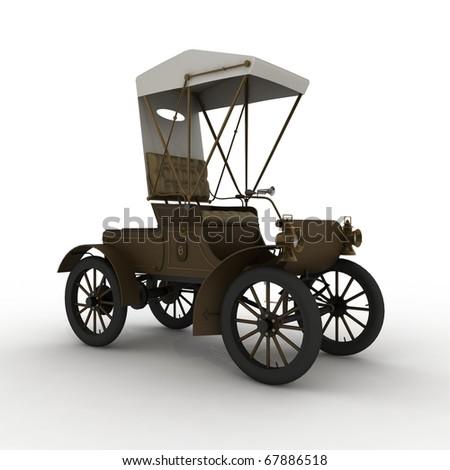 3D OLD CAR - stock photo