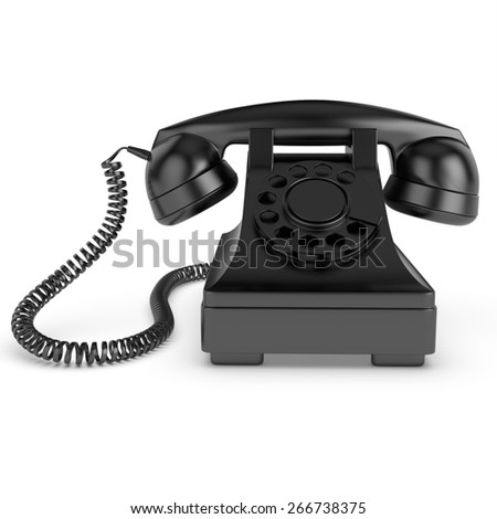 3D Old phone isolated in white background