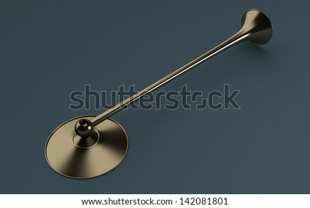3d old Stethoscope - stock photo