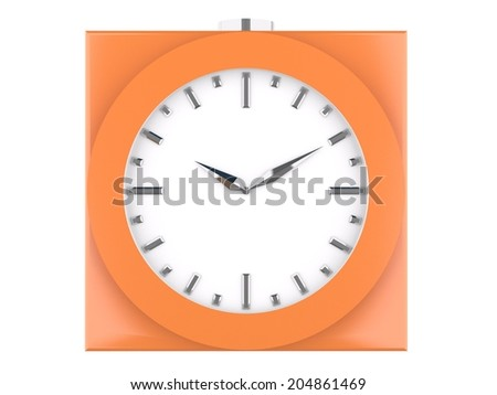 3d orange analog clock