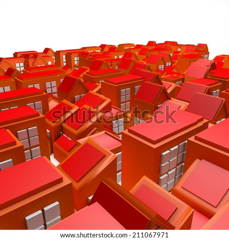 3D Orange City  - stock photo