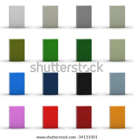 3D package collection. - stock photo