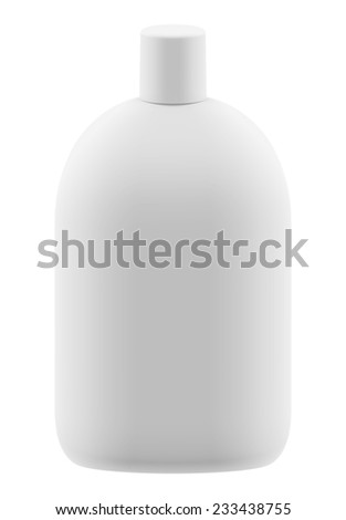 3D package gallon front view, isolated - stock photo