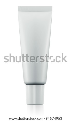 3D package tube blank on a white background .isolated - stock photo