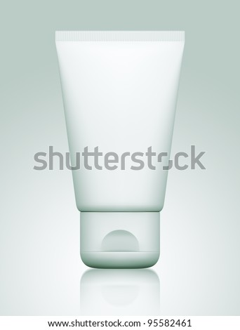 3D package tube blank on a white background .isolated