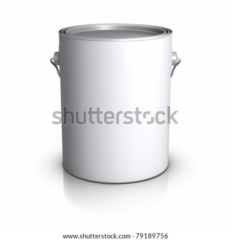 3D Paint Can. - stock photo