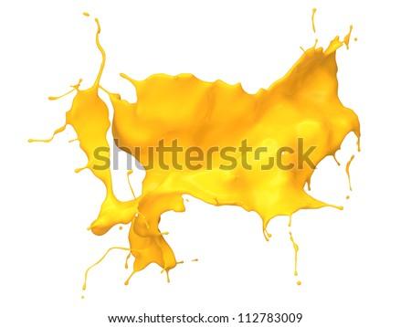 3D paint splash isolated on white background - stock photo