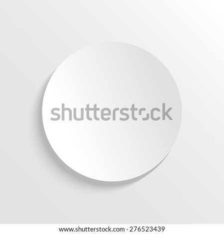 3D paper background with circle with place for text. Simple and cute raster version illustration. Background template. - stock photo