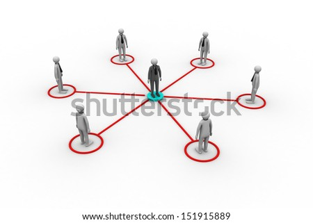 3d people business networking